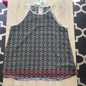 Le Lis Crochet Trim Halter
